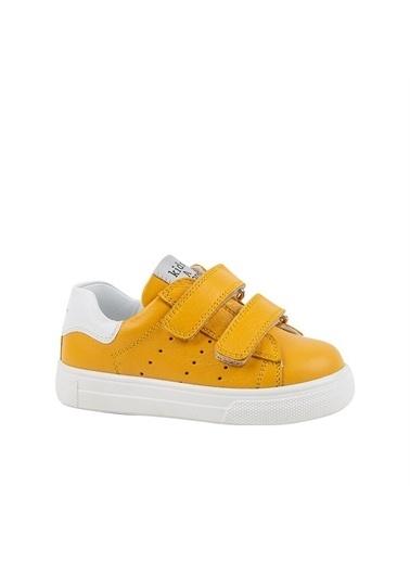 Kids A More Papillon Çift Cırtlı Deri Unisex Çocuk Ayakkabı  Hardal